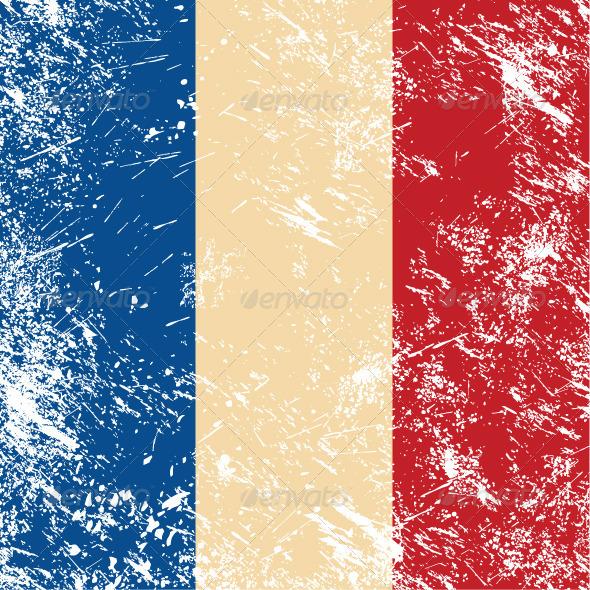 France retro flag - Retro Technology
