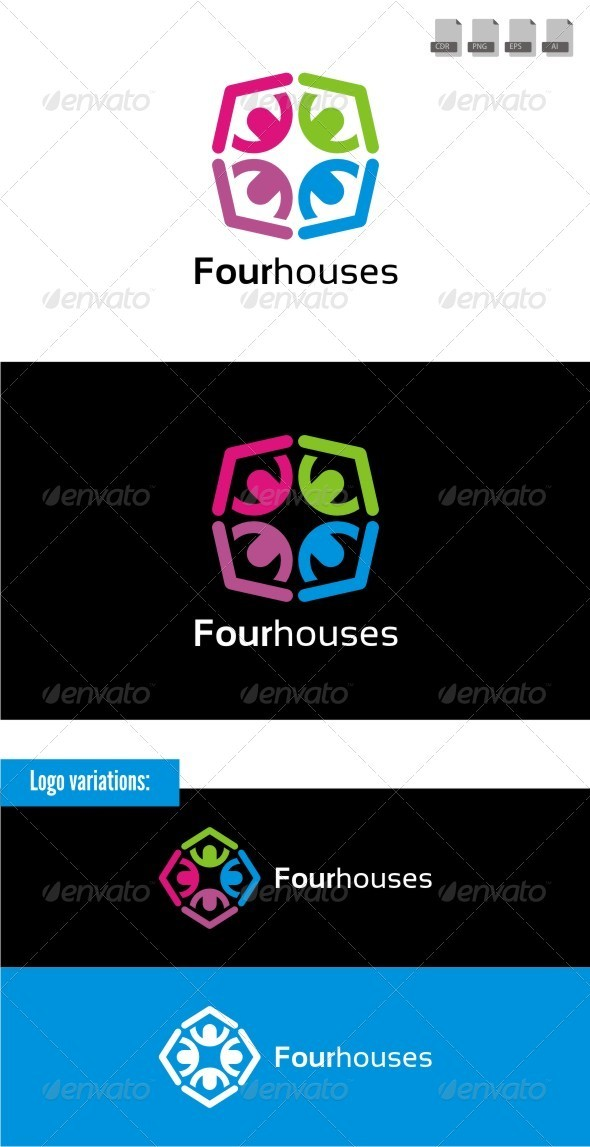Fourhouses - Buildings Logo Templates