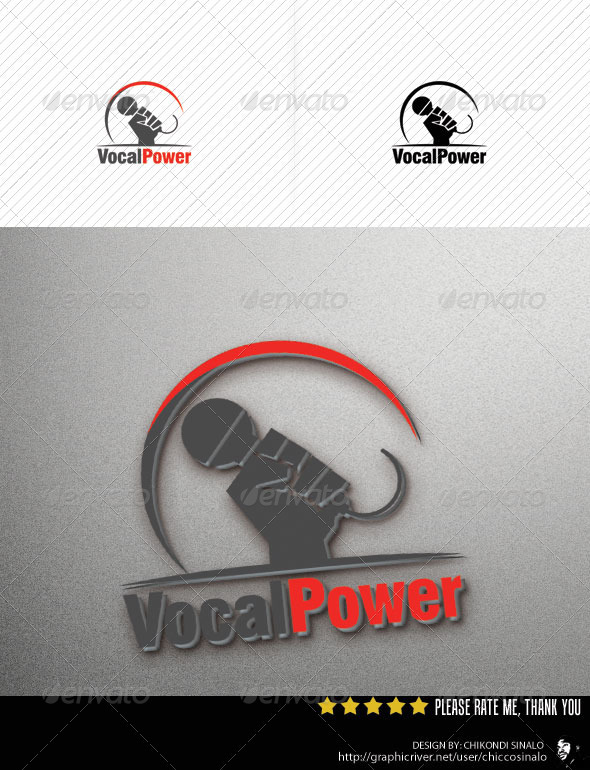 Vocal Power Logo Template - Abstract Logo Templates