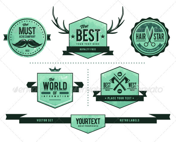 GraphicRiver Grunge retro badges 2704832