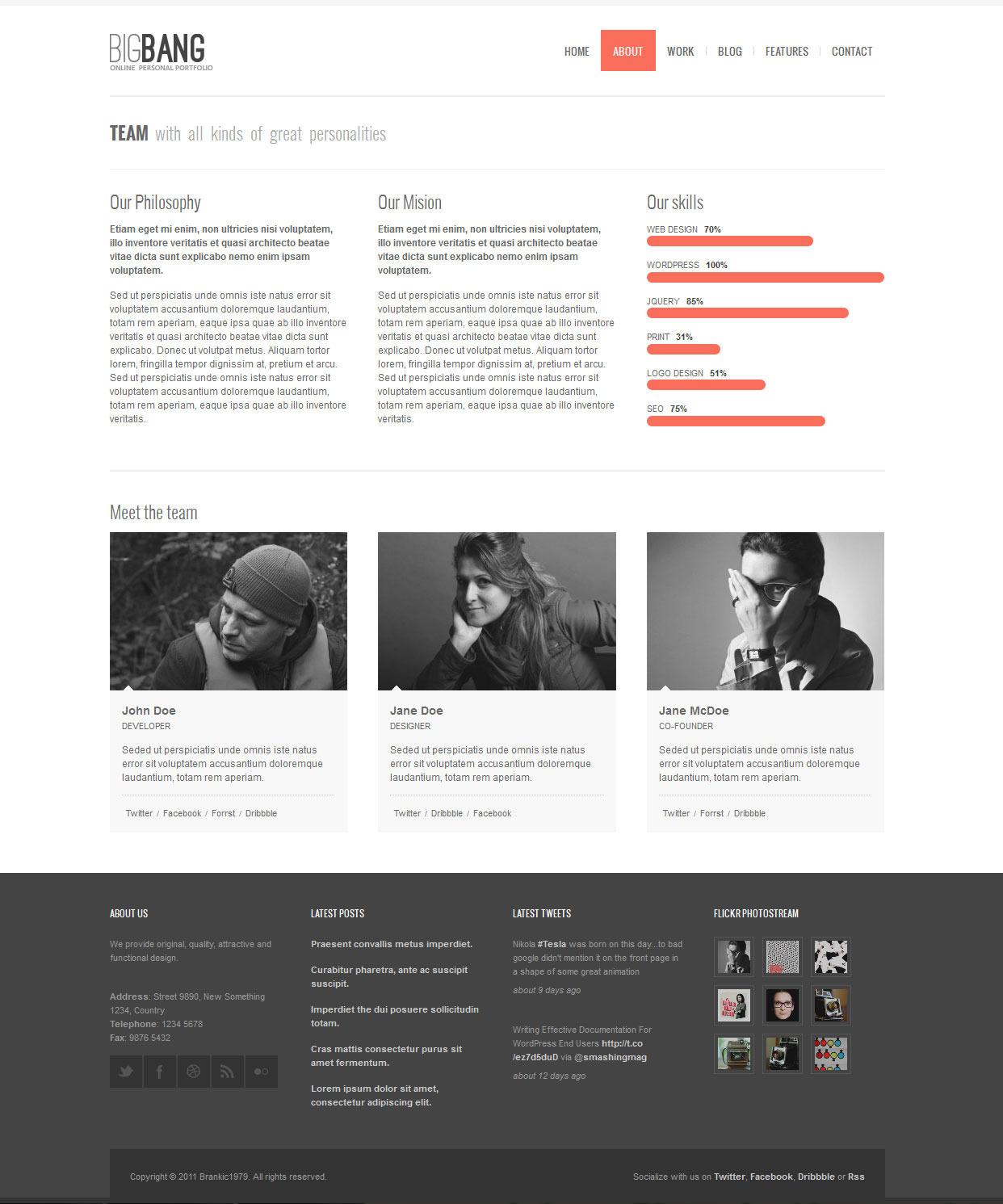 Bigbang - Responsive HTML Template