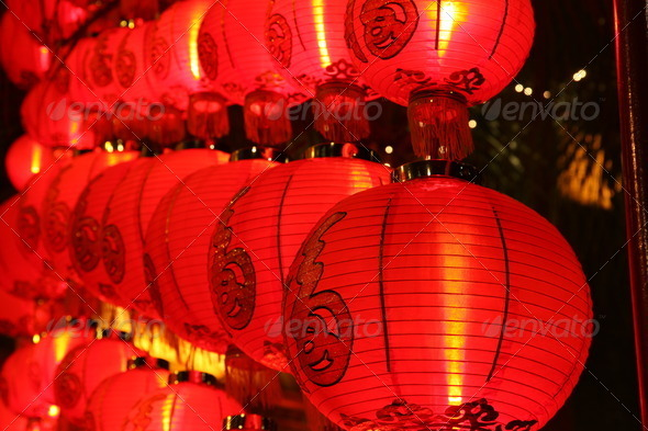 Chinese Red Lanterns - Stock Photo - Images