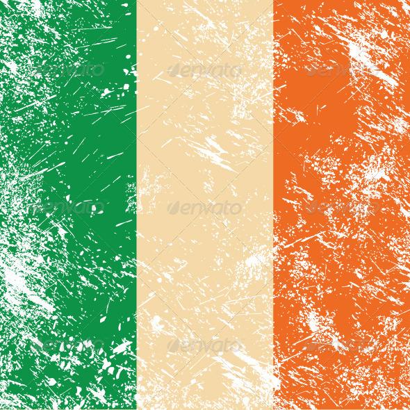 Ireland retro flag