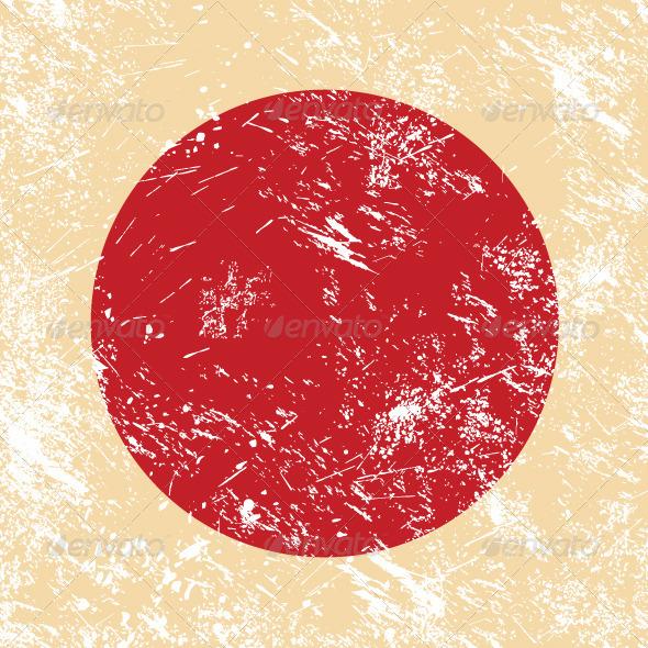 Japan retro flag