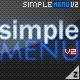 Simple Menu V2 - ActiveDen Item for Sale
