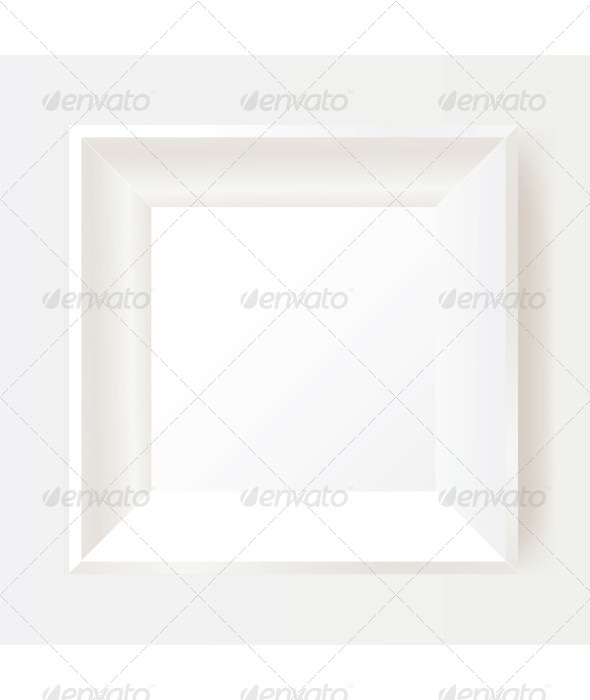 White photo frame - Backgrounds Decorative