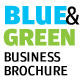 Blue And Green Business Brochure - InDesign A4