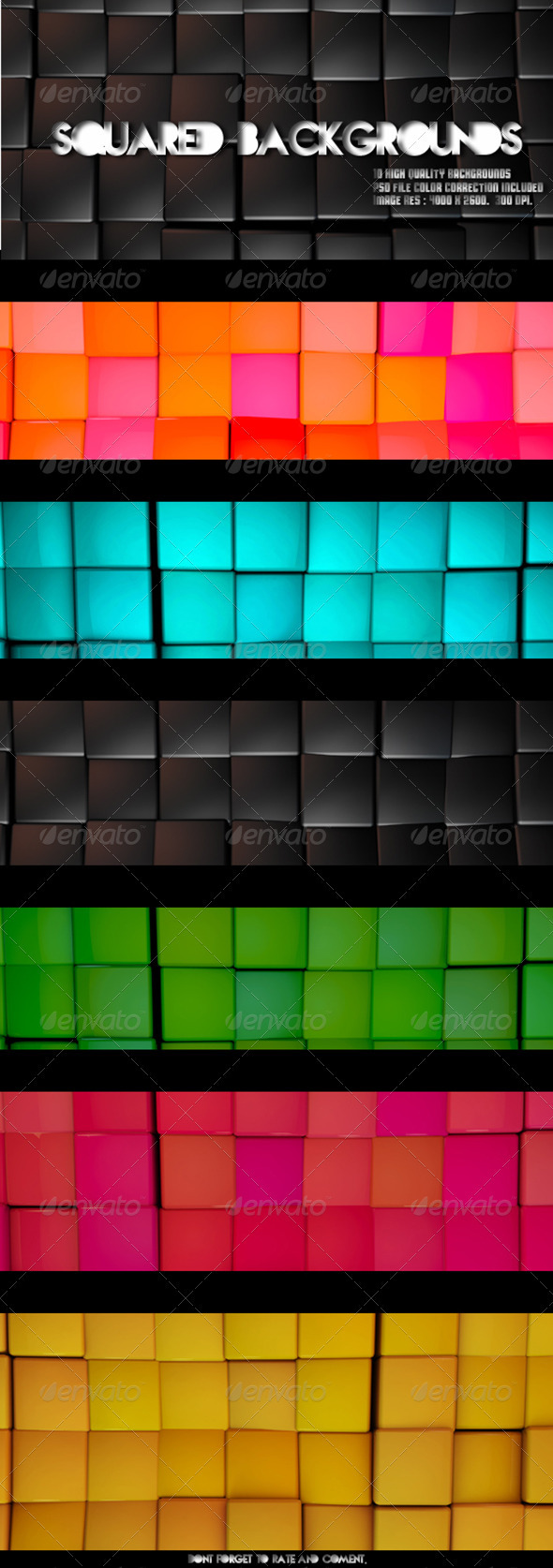 Square Backgrounds - 10 High Quality Backgrounds - 3D Backgrounds