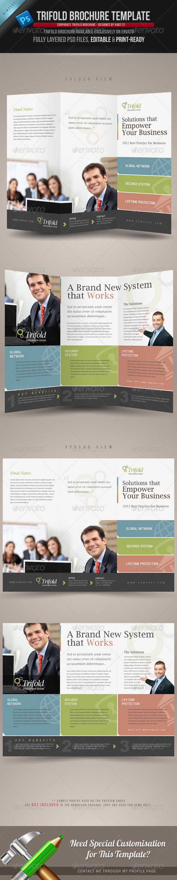GraphicRiver Corporate Trifold Brochure Template 2706532