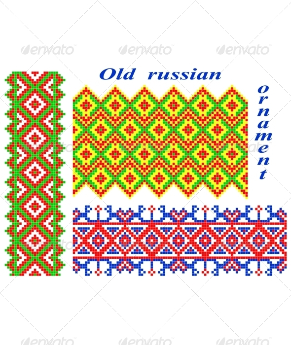 GraphicRiver Old Russian ornaments 2706534