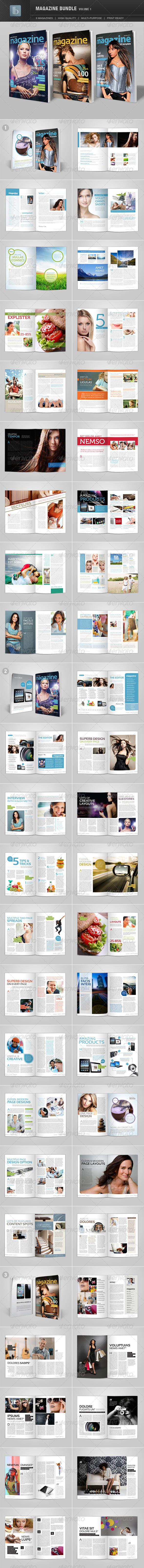 Magazine Bundle | Volume 1 - Magazines Print Templates
