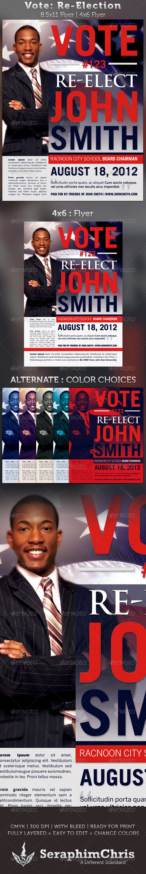 Vote: Re-Election Flyer Templates - Events Flyers