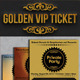 Golden VIP Ticket Showcase - GraphicRiver Item for Sale