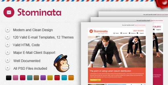 ThemeForest Stominata E-mail Template 2708124