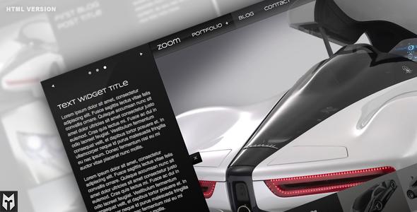Zoom Premium HTML Portfolio + Blog