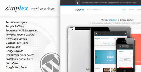 Simplex - Responsive WordPress Theme
