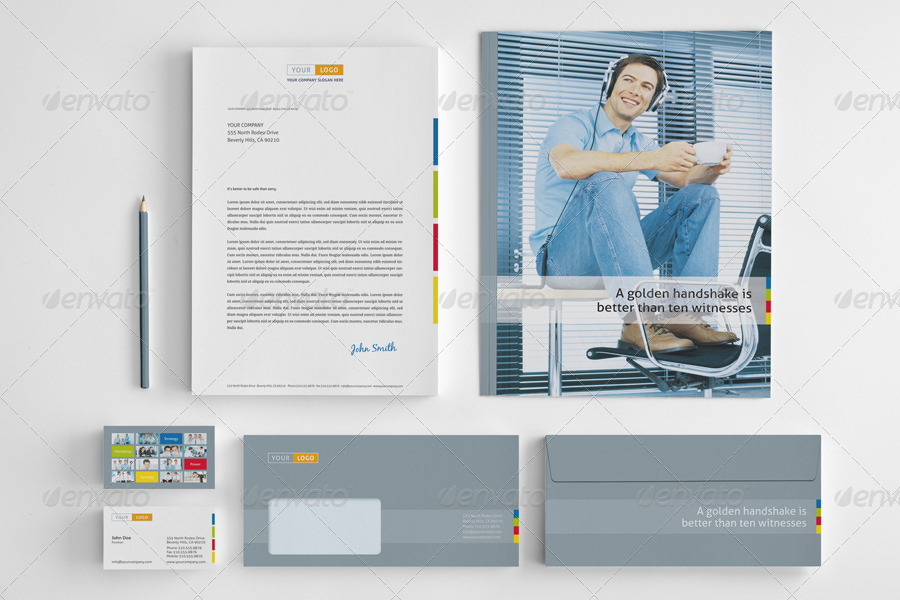 Strategic Corporate Identity Stationary Pack