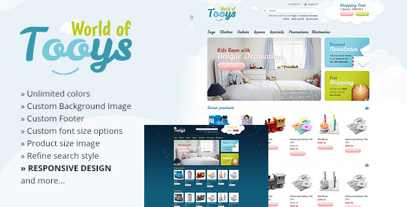 World Of Tooys Responsive OpenCart Theme