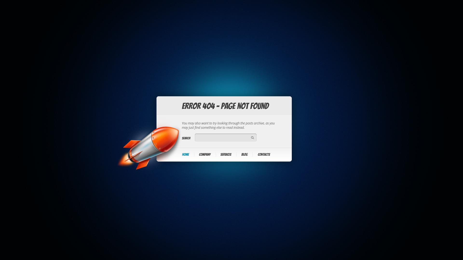 Rocket - 404 Error Page