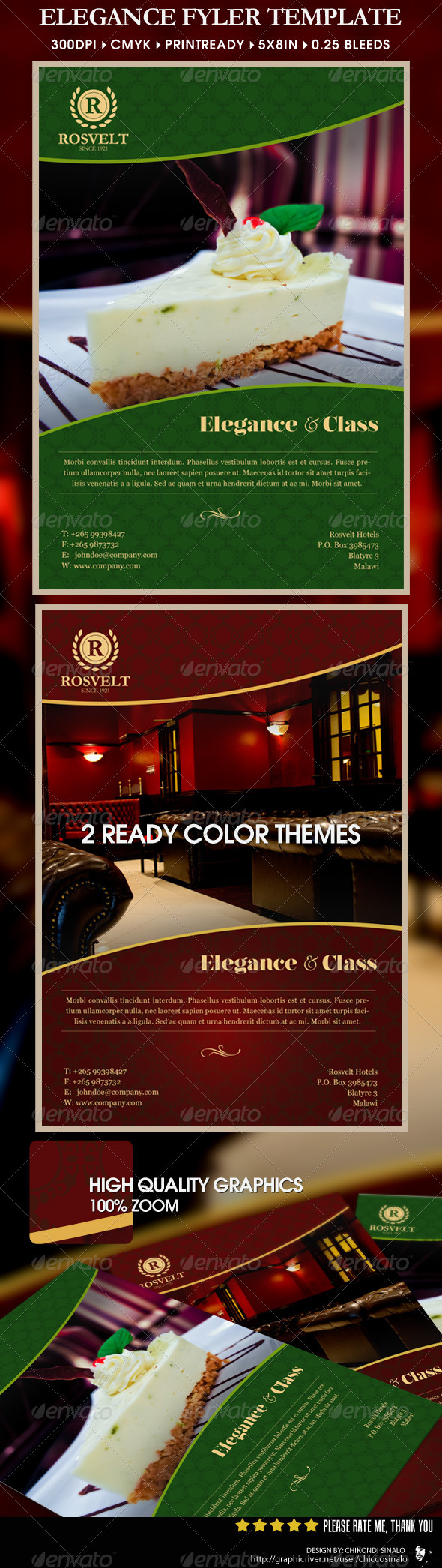 Elegance Flyer Template - Restaurant Flyers