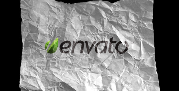 VideoHive Crumpling Paper and Foil Logo Reveal 2708857