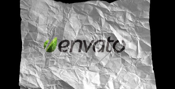Crumpling Paper and Foil Logo Reveal