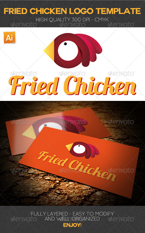 Fried Chicken Logo Template - Food Logo Templates