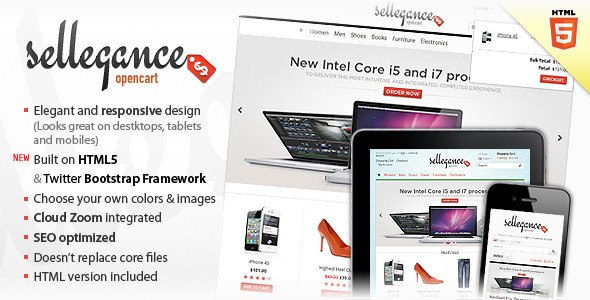 ThemeForest Sellegance Responsive and Clean OpenCart Theme 1285060