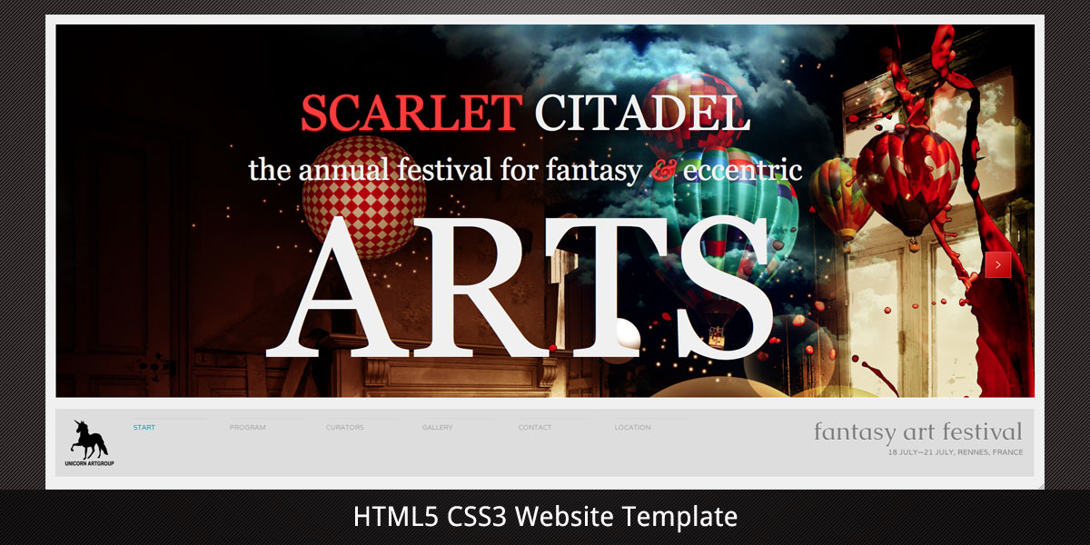 Scarlet Citadel–Bright Scrollable Event Web Flyer
