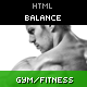 Balance – Gym Fitness HTML Theme