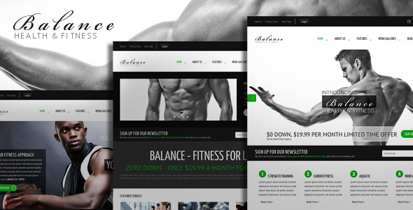 Balance - Gym Fitness HTML Theme