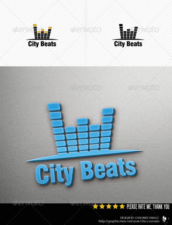 City Beats Logo Template - Abstract Logo Templates