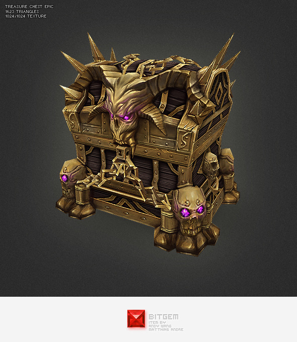 3DOcean Low Poly Treasure Chest Epic 2710965