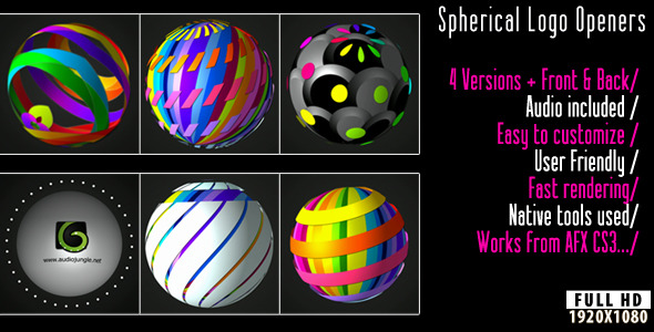 After Effects Project - VideoHive Spherical Logo Openers 2711705