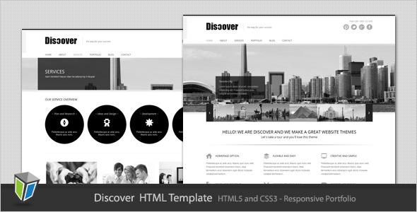 Discover - Responsive Portfolio HTML Template