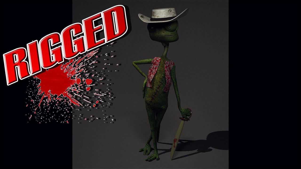 Hawaii Lizard - 3DOcean Item for Sale