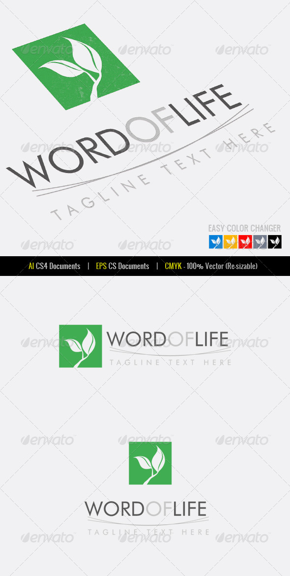 Word of Life Logo Template