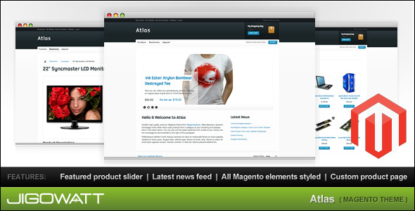 Atlas Magento Theme - Shopping Magento