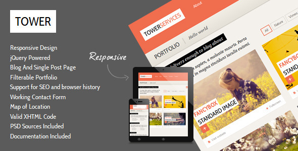 ThemeForest Tower Clean Responsive Template 2712818