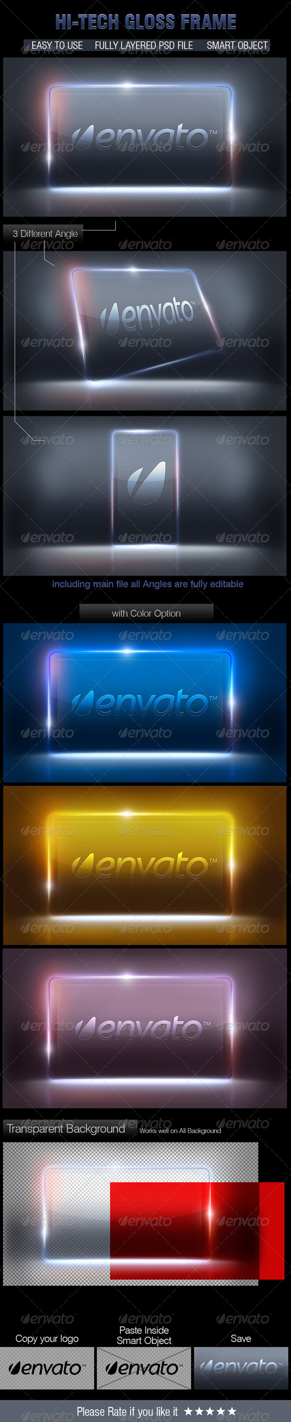 GraphicRiver Hi Finished Glass Frame 2674505