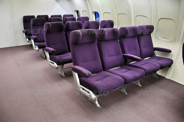 Airplane seats - Stock Photo - Images