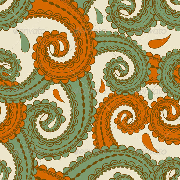 Vector Peamless Paisley - Patterns Decorative