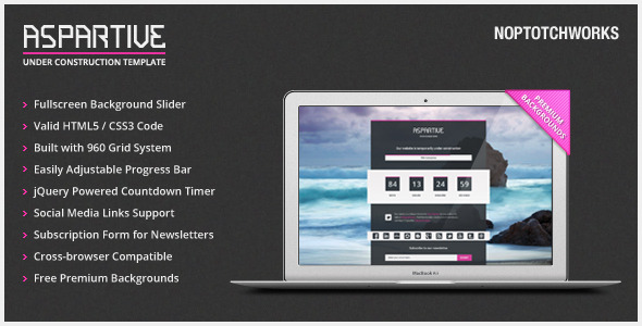 Aspartive - Fullscreen Under Construction Template