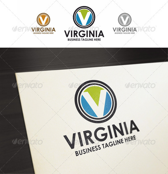 V-Letter - Virginia Logo - Letters Logo Templates