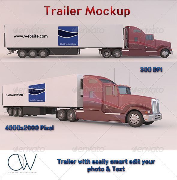Trailer Mockup - Vehicle Wraps Print