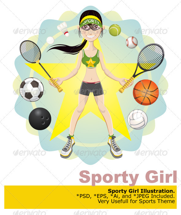 GraphicRiver Sporty Girl 2716280