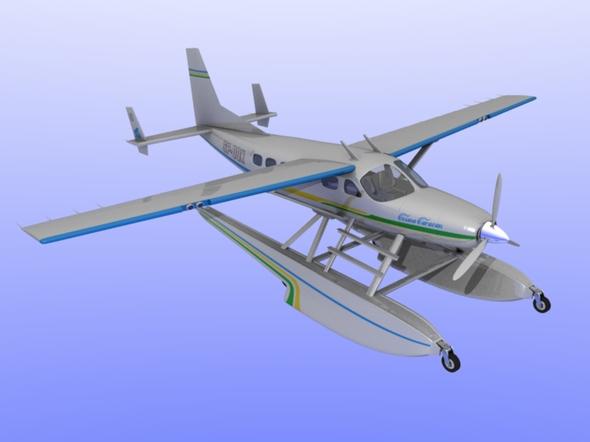 3DOcean Cessna Caravan Amphibian 98202