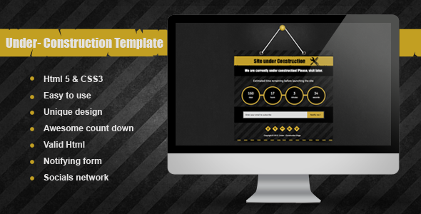 ThemeForest Under Under Construction Template 2708869