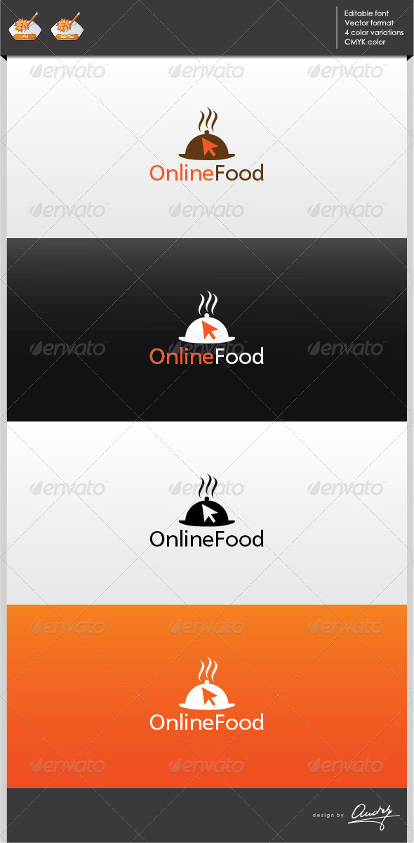 GraphicRiver Online Food Logo Template 2702269