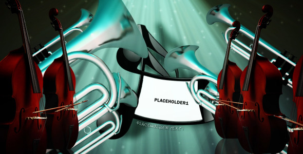 VideoHive Dancing instruments Cartoon style opener 2713710